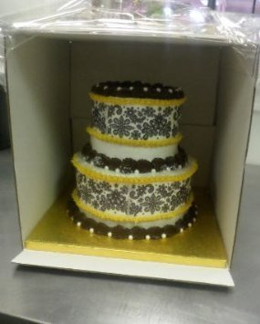 Cakesupplyshop Packaged Bright White Two Tier 2pack Tall 12x12x12 Cake
