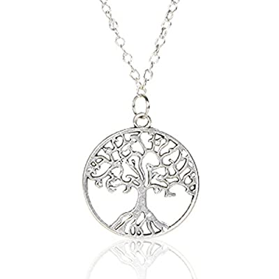 Nice KAVANI Tree of life Necklace Family Tree Pendant Necklace Sterling Silver Chain Necklace for Women free shipping