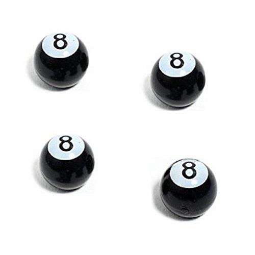KUSTOM66 Lot de 4/bouchons de valve 8/Ball en noir