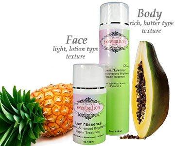 Lumi * Essence organique avancée éclaircissant de la peau / traitement de blanchiment de réparation avec l'acide kojique, l'arbutine et de vitamine C, 2 oz
