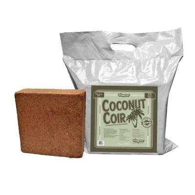 Viagrow VCCB5-222 11 lb Coconut Coir Block Soilless Grow Media (222 in 11 lb Brick Pallet)