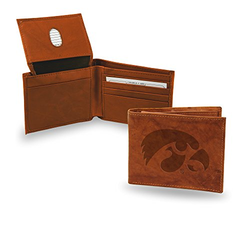 Iowa Leather - NCAA Iowa Hawkeyes Embossed Leather Billfold Wallet