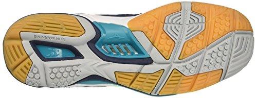 93 Wave Bleu Mizuno Pour Chaussures Stealth dressblues Paon Hommes Handball Multicolores 4 Greengecko De OEq6pT