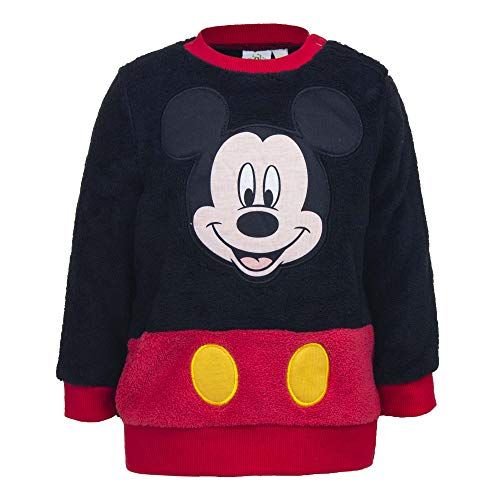 (Disney Mickey Mouse Full Embroidered Micro Polar Fleece Sweatshirt for Baby Boys(12-36 Months) (36 Months) )
