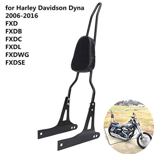 AUFER Detachable Black Backrest Sissy Bar for Harley Davidson Dyna FXD FXDB FXDC FXDL FXDWG FXDSE