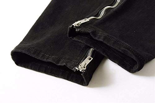 In Jeans Distrutto Fashion Slim Da Aspetto Strappati Giovane Denim Pantaloni Uomo Nero Skinny Con Vestibilità Saoye 5FqwB7q