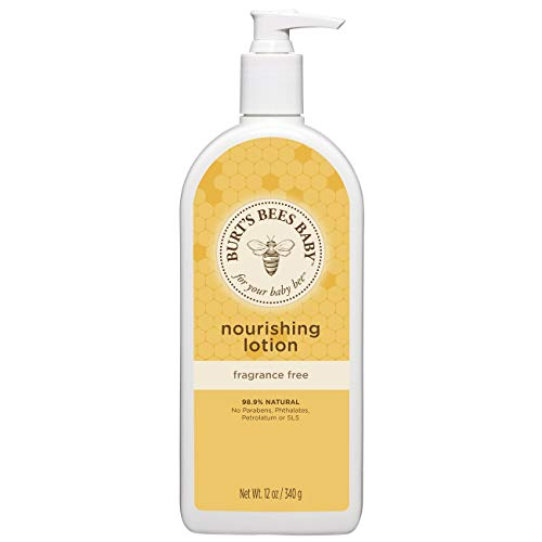 Burt's Bees Baby Nourishing Lotion, Fragrance Free Baby Lotion - 12 Ounce Bottle from Burt's Bees Baby