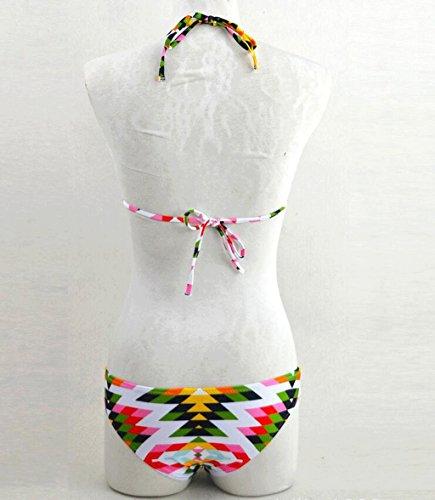 Traje de baño de la impresión del traje de baño de la manera Traje de baño del balneario del traje de baño de la playa del bikiní Multi - color