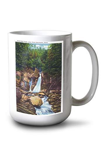 Lantern Press Berkshire Mountains, MA - View of Bash-Bish Falls Near Great Barrington (15oz White Ceramic Mug)