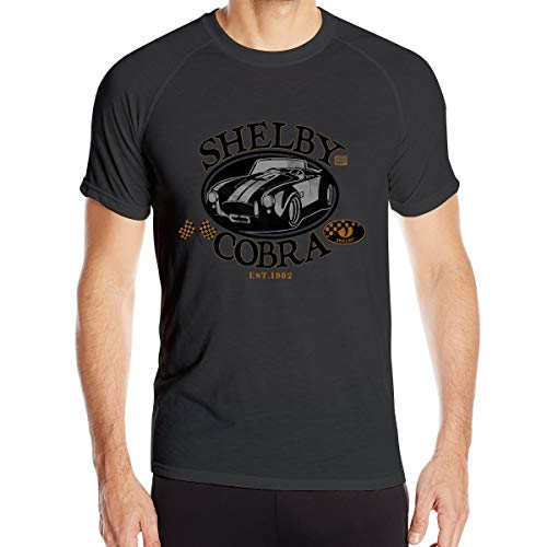 Wengua Shelby Cobra Classic Car Logo Quick Dry Sports T-Shirts Adult Men's Breathable Sports Tee ()
