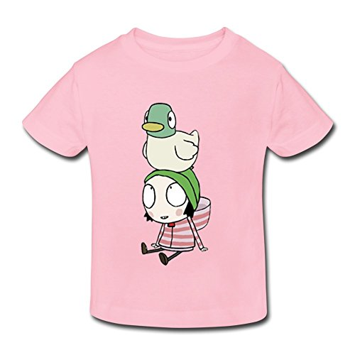 XFSHANG Kids Toddler Online Ring Spun Cotton Sarah & Duck T-Shirt Pink US Size 2 Toddler