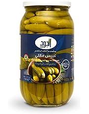 Al Jude Pickled Wild Cucumber 1000G (Glass Jar)   Super Crunchy   Premium Quality Pickled   Fresh Cucumber in Vinegar   Pickled Cucumber