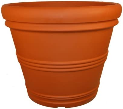 Tusco Products RR245TC Rolled Rim Garden Pot, 24.5-Inch, Terra Cotta Color.
