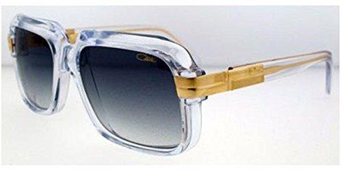 Cazal 607-065 SG Square Sunglasses,Crystal Frame/Grey Gradient Lens,56 mm
