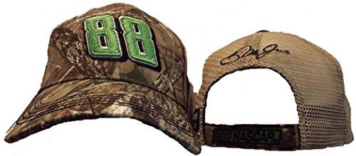 Earnhardt Number Nascar Dale (NASCAR True Timber Camo Dale Earnhardt Jr #88 Green Number Adjustable Trucker Hat)