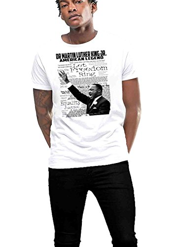 - Martin Luther King Jr T-Shirt Black History Month Freedom Fighter (Large)