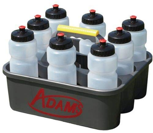 Adams USA Water Bottle Carrier with 8 Water Bottles Black, One Size