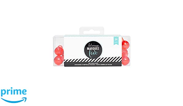 Amazon.com: Heidi Swapp 312094 Marquee Christmas 24 Piece Bulb Covers, Red: Arts, Crafts & Sewing