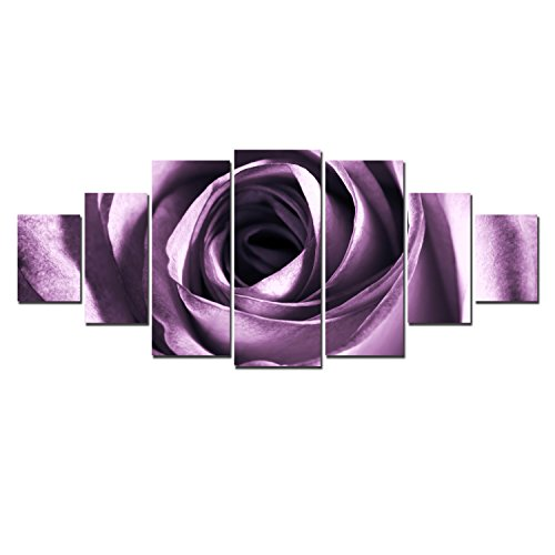 Startonight Huge Canvas Wall Art Purple Rose, USA Large Home Decor,