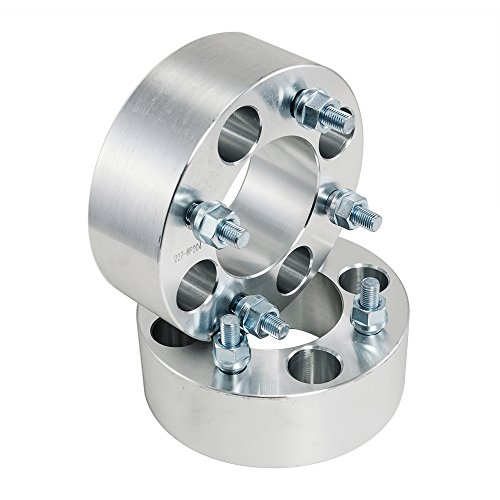 2pcs 2.0'' 4/110 4x110 ATV Wheel Spacers for Yamaha Grizzly Rhino Kawasaki Suzuki Honda (Silver) by Max Motosports (Image #1)