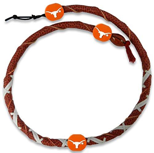 NCAA Texas Longhorns Classic Spiral Football Necklace
