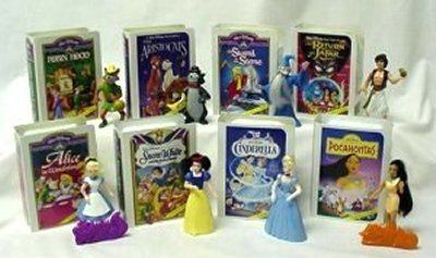 Mcdonalds Disney Video - McDonalds - Disney Video Happy Meal Set - 1996
