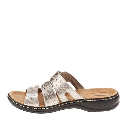 201d526eb723 ... Clarks Women s Leisa Cacti Q Pewter Leather Sandal 6 D - Wide WBCeqZCoa  ...