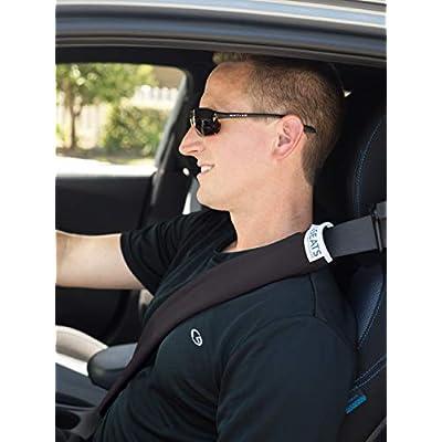 Dri Seats Waterproof Seat Belt Covers (2 Pack) (Black): Automotive