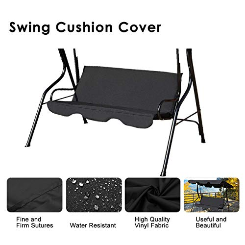 Image of Essort Swing Cushions Cover Replacement, Outdoor Patio Swing Loveseat Waterproof