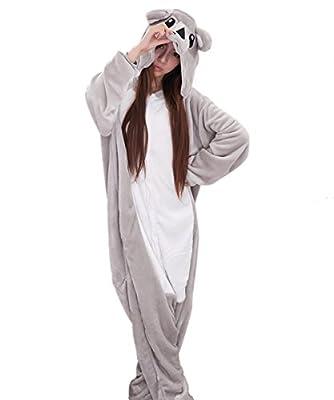 Japsom Grey Koala Bear Animal Kigurumi Cartoon Cosplay Costume One-Piece Pajamas