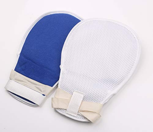 My Finger Control Mitts, Hand Protector Padded Mitts for Universal Fit on Any Hand, Blue