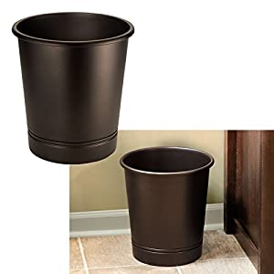 bathroom wastebasket. New York Bathroom Waste Basket Trash Can Bath Sink Accessories  Oil Rubbed Bronze Amazon com