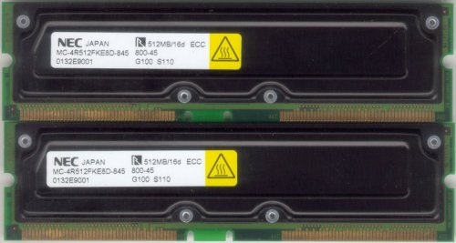 - Elpida/NEC PC800-45 1GB (2X512MB) 800-45 RDRAM Rambus Rimm memory modules