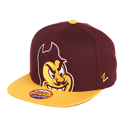 Zephyr NCAA Arizona State Sun Devils Youth Boys Peek Snapback Hat, Maroon/Gold, Adjustable ()