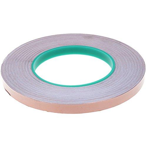 BCP Double Conductive EMI Shielding Copper Foil Tape- 3/8 Inch X 55 (Copper Metal Thread)