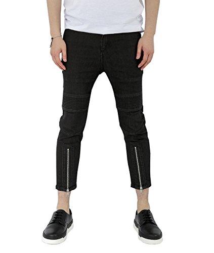 wiberlux-neil-barrett-mens-zipped-hem-cropped-skinny-jeans-31-black