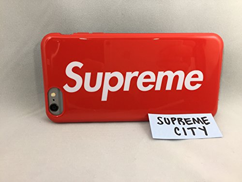 Price comparison product image Supreme iPhone 6 PLUS Case | Box Logo Red | Slim Sleek Fit for your Phone Hardcover Back, Silicone Sides | Impact Resistant | Straight from NYC | Apple iPhone 6s/6 Plus | SS17