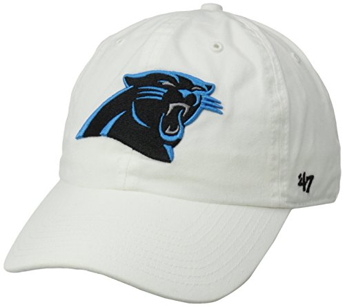 NFL Carolina Panthers Men's Clean Up Cap, White, One Size