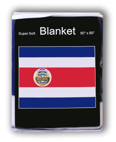 Costa Rican Flag Fleece Blanket 5 ft x 4.2 ft. Throw Cover B