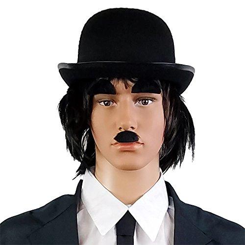 Black Derby Bowler Hat For Men Women Boys And Girls Vintage Costumes – Hats Fit Teens Kids & (Bert Hat)