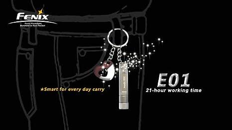 Fenix E01-DEL torche//Lumière Flash-Argent