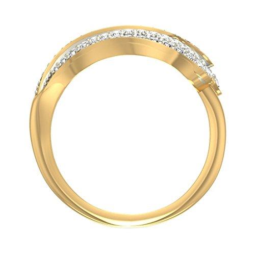 Or jaune 18K, 0.47carat Diamant Taille ronde (IJ | SI) Noir Oxyde de Zirconium et en diamant