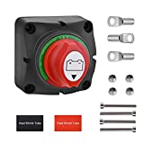 FUNTECK 2-Position Single Battery Disconnect Switch for Car Camper RV and Marine Boat, 12-60V DC, 275 Amps Continuous, Comes with 2 Copper Terminals