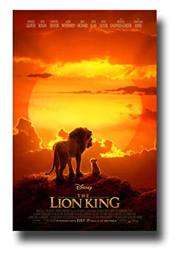 - Lion King Poster Movie Promo 11 x 17 inches Live Action Sunset