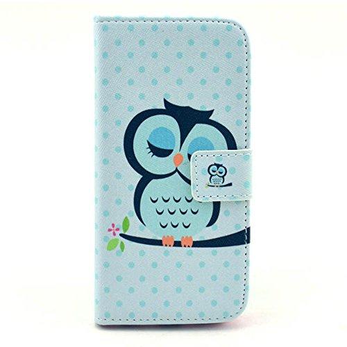 (Owl 1#) Painting Art Design Beutel PU Leder Stehen Flip Schutzhülle Hülle Tasche Schale Case Cover für Apple iPhone 6 Plus (5.5 Zoll)