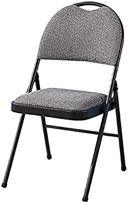 Padded Folding Chair Deluxe Strong Steel Metal Frame Fabric Office Computer New