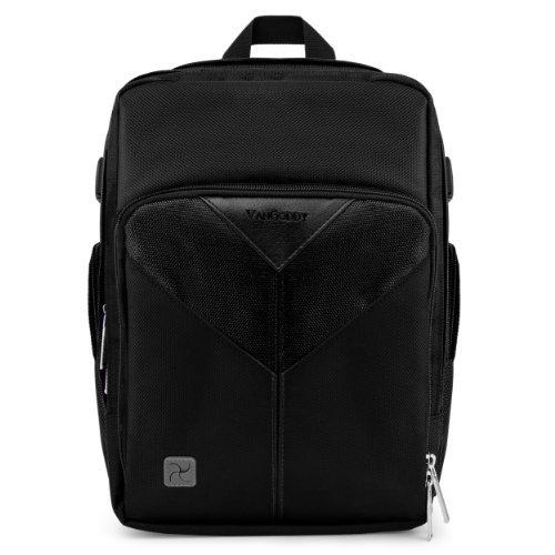 VanGoddy Sparta Travel Backpack for Ricoh Caplio GX100 / GX200 Compact Digital Cameras + Mini Tripod + Screen Protector Black