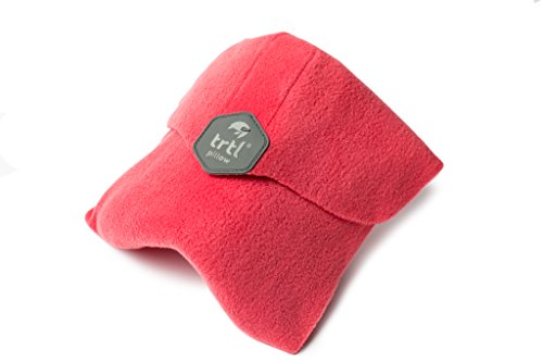 Trtl Pillow - Scientifically Proven Super Soft Neck Support Travel Pillow - Machine Washable - Coral