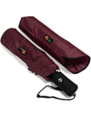 Umenice Windproof Travel Umbrella Compact Automatic Open Close Small Folding Umbrellas fit Golf Purse Backpack Wind Resistant for Men and Women Traveler