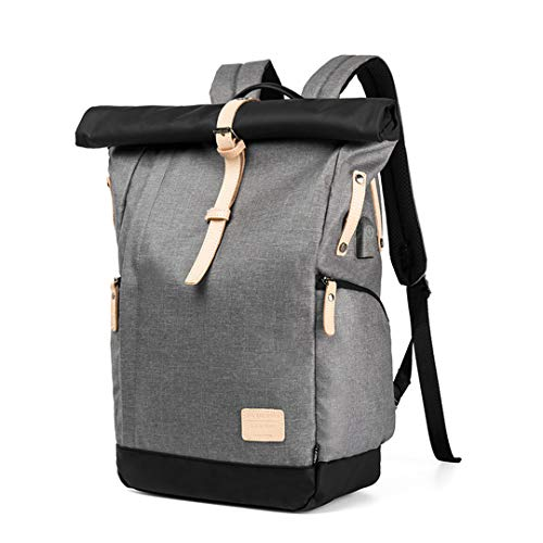 6 Travel Oxford Large 15 Function inch Gray Laptop Multi Cloth Backpack 8xPw1q